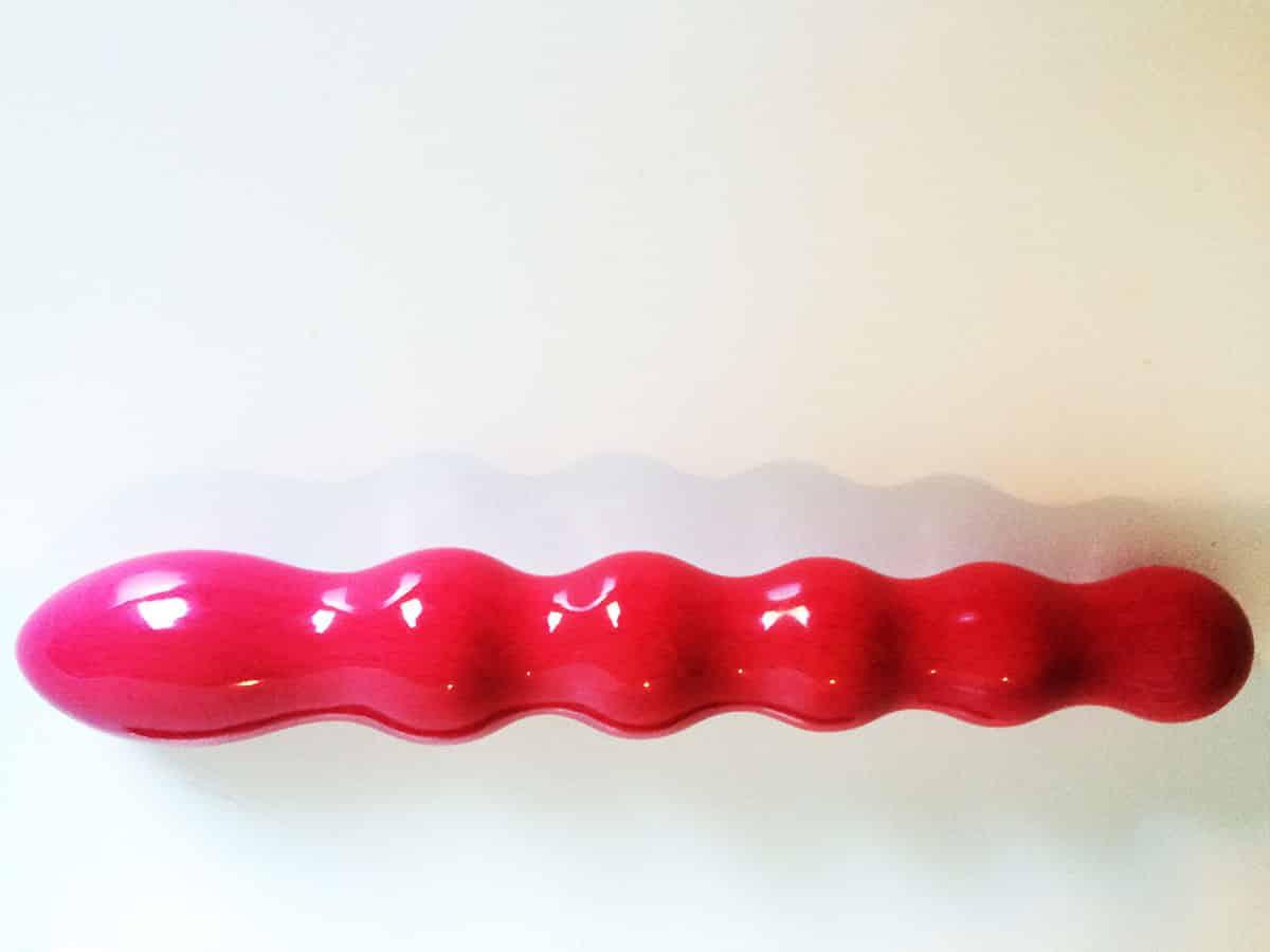 Vaible Wave pinker Holzdildo Gesamtansicht
