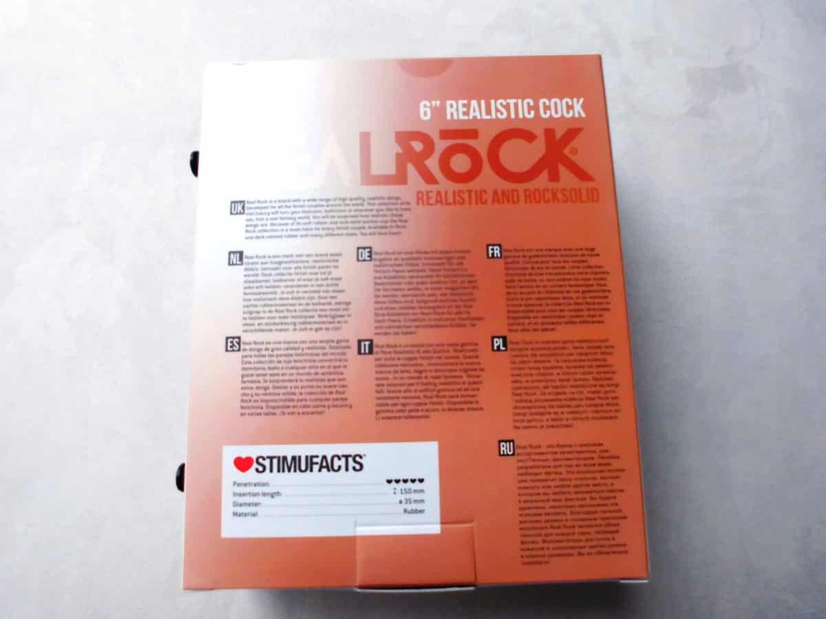 RealRock by Shots Realistic Cock Karton Rückseite